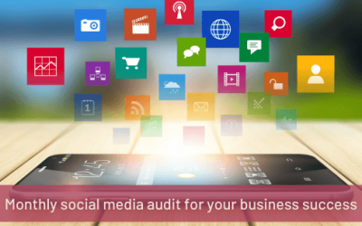 Monthly social media audit for your business success