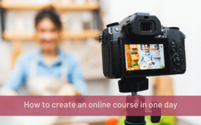 How to create an online course in one day